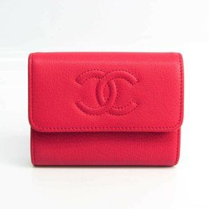 Chanel Card Case Women's Leather Coin Purse/coin C